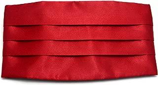 Simpowe Men's Solid Multi-color Silk Cumberbund