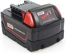 Waitley M18 18V 5.0Ah Batería de iones de litio de repuesto para Milwaukee M18 M18B Batería de 18v Compatible con M18B 48-11-1820 48-11-1850 48-11-1828