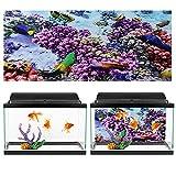 OyunngsImagen de Fondo del Acuario para Acuario, póster de Coral púrpura de Efecto 3D, Etiqueta Adhesiva de Pared...