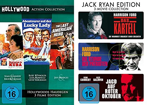 6 Hollywood Action Klassiker Collection Explosion in Kuba + Abenteuer auf der Lucky Lady + The Last American Hero + Das Kartell + Die Stunde des Patrioten + Jagd auf roter Oktober 6 DVD