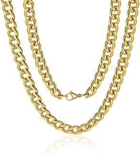 """316L قلادة الفولاذ المقاوم للصدأ للرجال النساء كبح كوبان سلسلة حلقات خانقة للرجال النساء مجوهرات 16-20 """"تأتي صندوق هدية"""