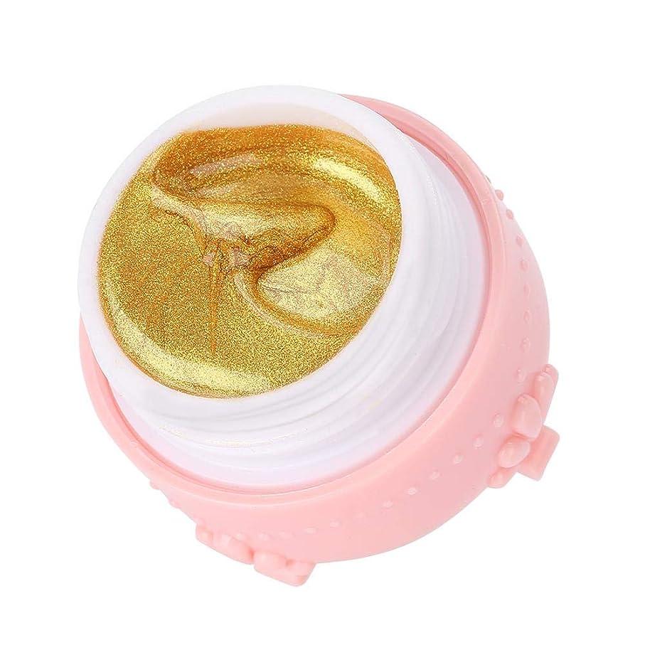 いつか合意おしゃれなジェルネイル キラキラ素敵な 3DネイルUVジェル 強力な接着 女性 良い贈り物(金色)