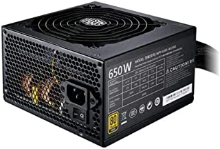 Cooler Master MWE Gold 650W 80Plus Gold Certified Fully Modular Cable Design Compact DC-to-DC Power Supply - Black - MPY-6...