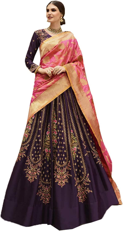 DaFacioun Indian donna Designer Partywear Ethnic Traditional Lehenga Choli.
