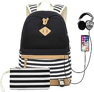 Sqodok School Backpack Canvas Bookbag 14