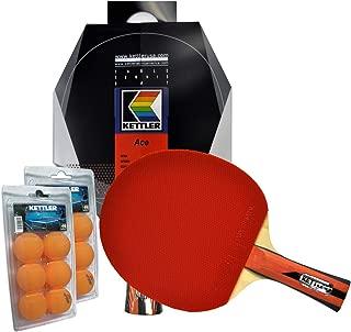 Kettler Ace Indoor Table Tennis Bundle: 2 Player Set (2 Rackets/Paddles & 12 Balls)