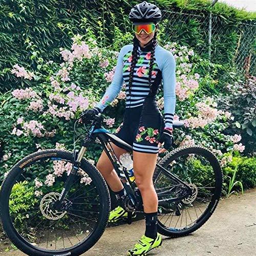 Triatlón para mujer Manga larga Ciclismo Traje Traje Medias Ciclismo Ciclismo Traje Jumpsuit (Color : 20 105, Size : XX-SMALL)