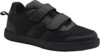 KazarMax SKUDO Boy's & Girl's (Unisex) with Superlight Weight Black/White School Shoes (Made in India)