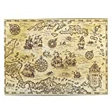 Rompecabezas 500 piezas para adultos en venta 20.5* 15 pulgadas madera antiguo mapa pirata del mar Caribe con barcos Puzzle decoración del hogar para adolescentes niños