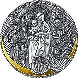 Power Coin Lady and The Dragon Apocalypse 3 Oz Moneda Plata 3000 Francos Cameroon 2021