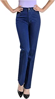 N\P Pantalones vaqueros de cintura alta para mujer otoño largo de mezclilla de otoño