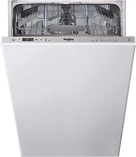 Whirlpool WSIC 3M17 lavavajilla Totalmente integrado 10 cubiertos A+ - Lavavajillas (Totalmente integrado, Plata, Estrecho (45 cm), Plata, Tocar, 1,3 m)