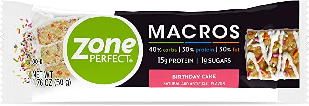 ZonePerfect Macros Protein Bars Birthday Cake 20 Count Estimated Price : £ 79,95