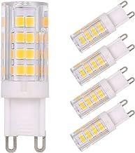 Gecheer 5W LED Corn Light Bulb 45W Halogen Bulb Equivalent Replacement 400LM 5 Pack G9 Base Holder Socket Warm White for D...