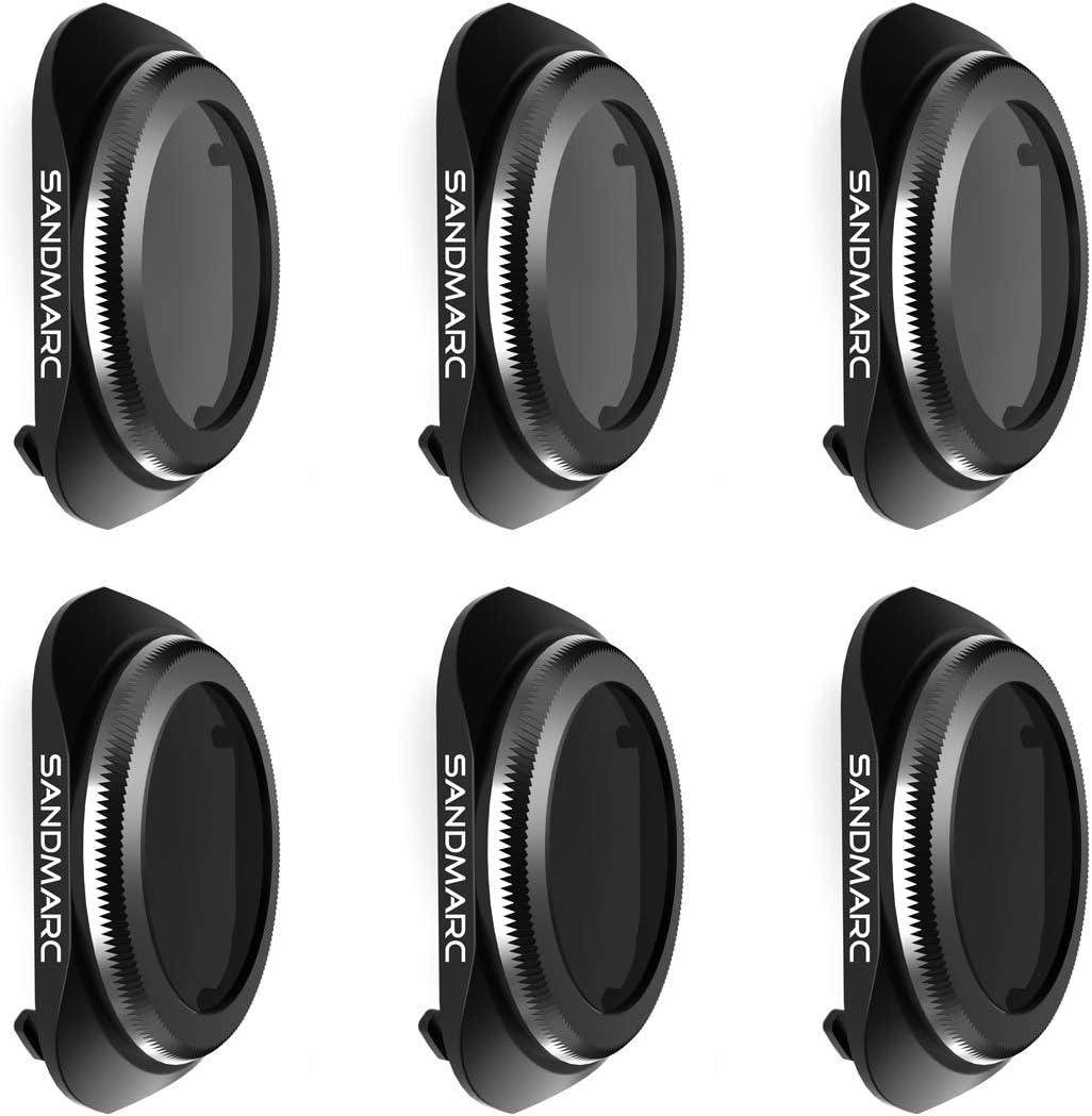 SANDMARC Pro Plus Filters for DJI Mavic 2 Pro (6-Pack) - PL, ND4/PL, ND8/PL, ND16/PL, ND32/PL & ND64/PL Filter Set