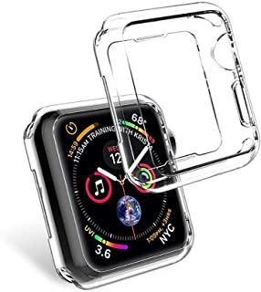 Transparent TPU Soft Case Thin Shell Frame Protector For iwatch Apple Watch Series 4 40mm Back Bumper Cover Protection