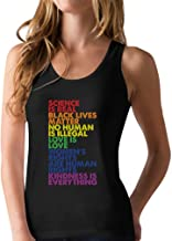 Science is Real Black Lives Matter Love is Love Equality Racerback Tank Top