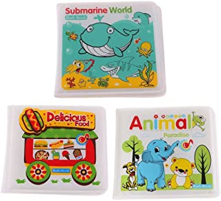 3 Pieces Waterproof Baby Kids Shower Bath Book Early Educational Toys