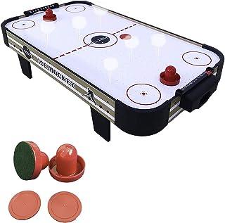 haxTON Air Hockey Table Game Set with 4 Air Hockey Pucks and 2 Air Hockey Paddles (Red) (4 Pack)