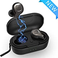 Moucit Wireless Bluetooth Earbuds Headphones (Titanium Black)