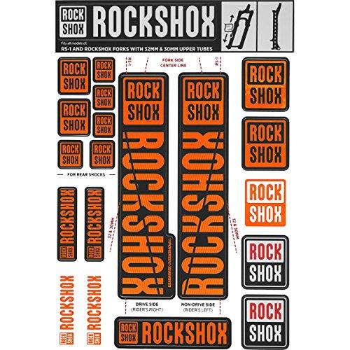 RockShox Suspension Rechange Decal Kit 30 / 32Mm Ne02 Orange My18 Sid/Reba/Apocalypse (Avant 2018) / Sektor/Recon / Xc32 / 30G / 30S / Xc30 Service Et Pièce Unisex-Adult, Noir