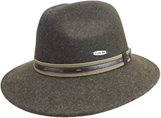 Australian Outback Akubra Snowy River Wide Brim Quality 100% Wool Classic Mens Boonie Hat by E.H.G. | Men Hat or Women Hat