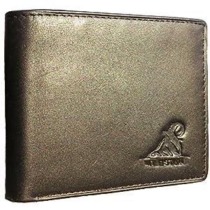 Mt. Eston RFID Blocking Trifold Bifold Mens Wallet, 18 Pocket Extra Capacity