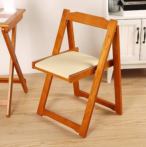 QXJPZ Chaise de Salle à Manger Chaise en Bois Massif Chaise de Bureau pour Adultes Chaise de Salle à Manger Nordique Chaise Pliante (Couleur   C)