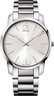 Calvin Klein Men's Silver Dial Stainless Steel Band Watch - K2G21126