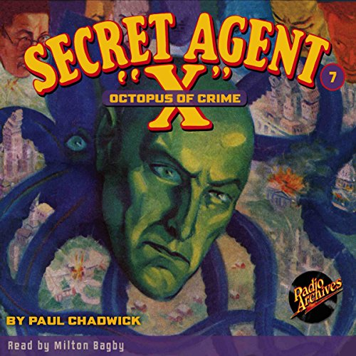 Secret Agent X #7 September, 1934 audiobook cover art