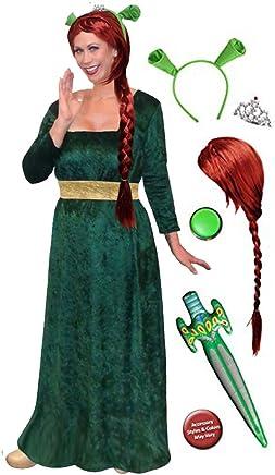 41f2138499d Sanctuarie Fiona Plus Size Supersize Halloween Costume Deluxe Wig Kit Green