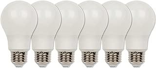Westinghouse Lighting 4312720 60-Watt Equivalent Omni A19 Bright White Energy Star LED Light Bulb with Medium Base (6-Pack), Six Soft Piece