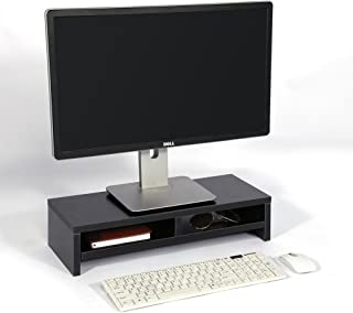 Space Saving Monitor Platform More Comfortable Wooden Particle Board Good Workmanship Sturdy Monitor Riser Home Desk for O...