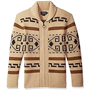 Pendleton Men's Original Westerley Sweater Tan/Brown X-Large