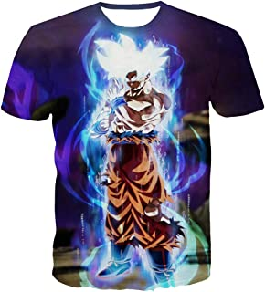 Unisex 3D Dragon Ball Goku Short Sleeve T-Shirts Creative 3D Print Anime Tees