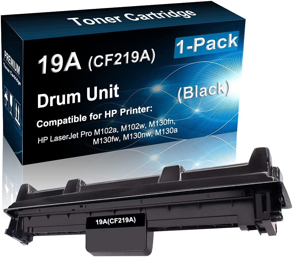 1-Pack Compatible Drum Unit (Black) Replacement for HP 19A CF219A Imaging Drum use for HP Pro M102a M130fn M130nw Printer