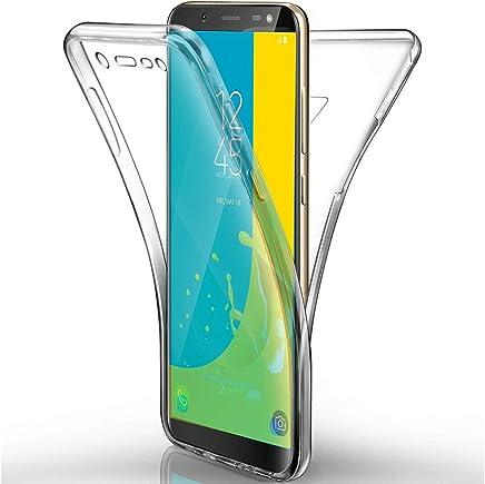 COPHONE® Coque 360 degrès Transparente en Gel Samsung Galaxy J6 2018 Protection Integral et Invisible. Haute qualité
