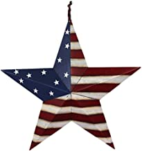 Grace Home Metal Patriotic Old Glory Americana Flag Barn Star Wall Decor July of 4th Independence Day Memorial Day Hanging...