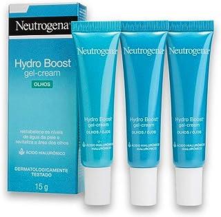 Kit com 3 Gel Hidratante para área dos Olhos NEUTROGENA Hydro Boost 15g
