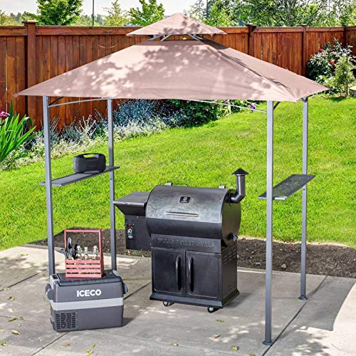 HO.FMA Double Tiered Replacement Canopy Grill BBQ Gazebo Roof Top Gazebo Replacement Canopy Roof,A