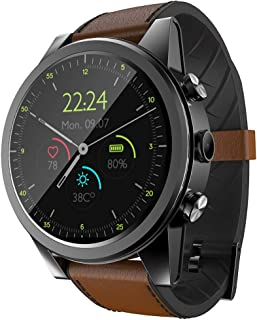 Wireless Bluetooth Smart Watch X360 1G+16G 1.6 inch Screen IP68 Life Waterproof 4G Smart Watch, Support Heart Rate Monitoring/Step Counter/Phone Call (Black) Fitness Tracker (Color : Brown)