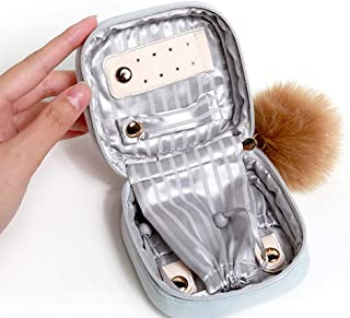 MU Boîte de Rangement Portable de ménage Boîte à Bijoux en Bois Massif/Sac de Rangement d'art en Tissu/Sac de Rangement de...