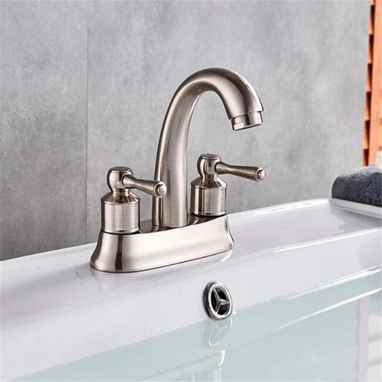 Miscelatore Cucinadual Griffe Vanity Sink Mischbatterie l eingerieben Bronze Nickel gebürstet Kalt- & Warmwasserhahn