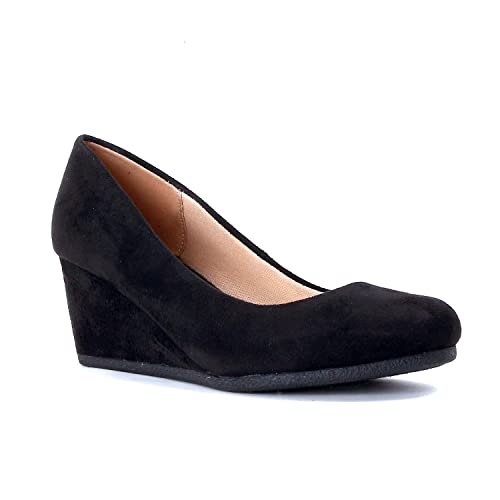 Womens Black Wedge Shoes Amazon