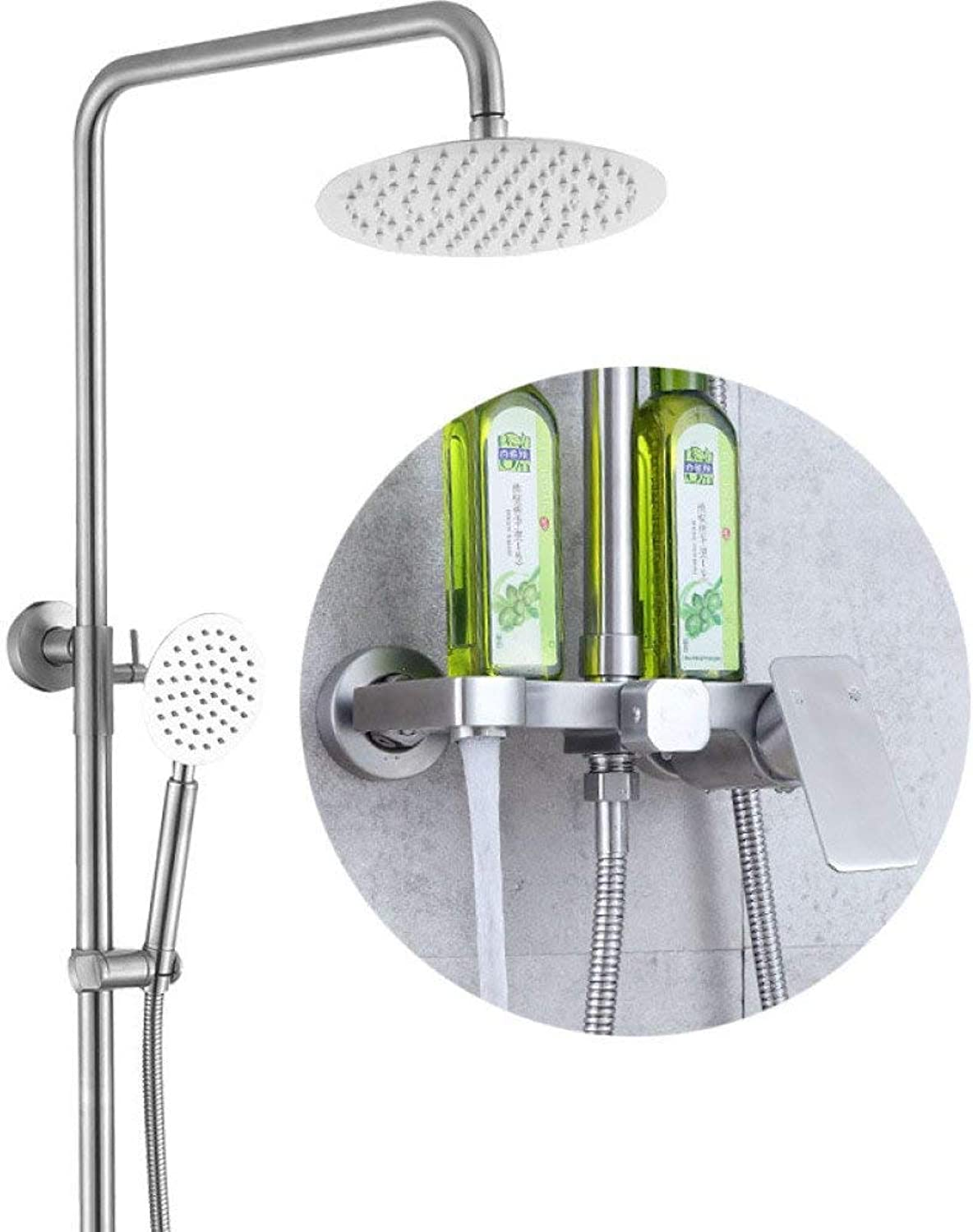 Shower Set Mixer Shower Faucet,Silver Household Modern Creativity Mixer Shower Shower Set Multi-Function Wall-Mounted Bathroom Shower Head.