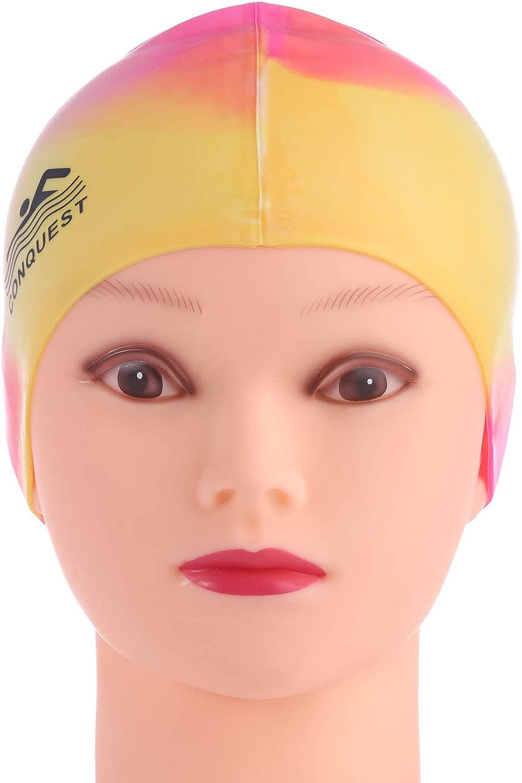 TOPCHANCES 伸縮性シリコン防水水泳キャップ 耳を保護 ロングヘア スポーツ 水泳 プールハット 水泳キャップ フリーサイズ メンズ&レディース キッズ