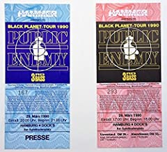 Public Enemy Full Unused Tickets Set of Two (2) 1990 Hamburg, Germany