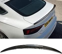 KERIST Carbon Fiber Spoiler Boot Duck Lip for Audi A5 S5 Coupe 2-Door 2019 2017 2018