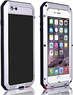 CarterLily Shockproof Dustproof Water Resistant Aluminum Armor Full-Body Protection Case for iPhone 6 / iPhone 6S (Silver)