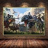 Ayjxtz Puzzle 1000 Piezas Ark Survival Evolved Dinosaur Hit New Game Art Imagen para Puzzle 1000 Piezas Adultos Gran Ocio vacacional, Juegos interactivos familiares50x75cm(20x30inch)
